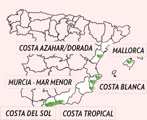 Karta Spanien