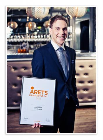 Årets mäklarstudent 2012 Jonatan Sandberg