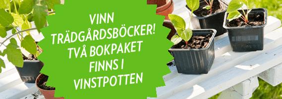 Vinn trädgårdsböcker! Två bokpaket i vinstpotten.